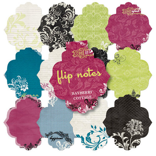 Pink Paislee - Bayberry Cottage Collection - Flip Notes - Die Cut Journal Pad