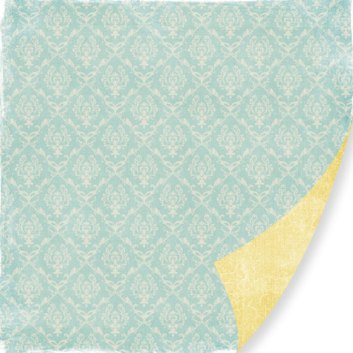 Pink Paislee - 365 Degrees Collection - 12 x 12 Double Sided Paper - Think Big