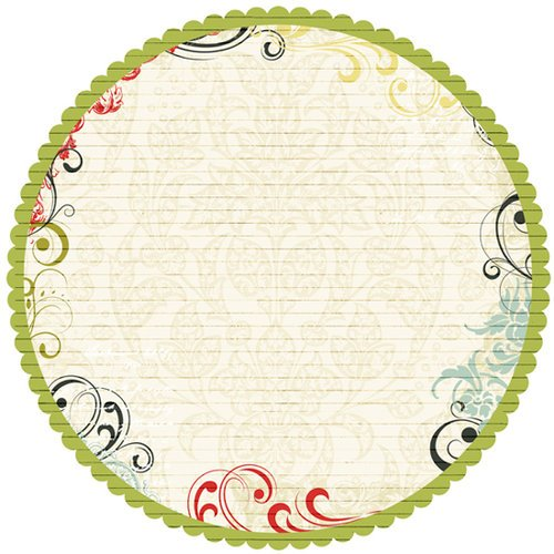 Pink Paislee - 365 Degrees Collection - 12 x 12 Die Cut Paper - Believe