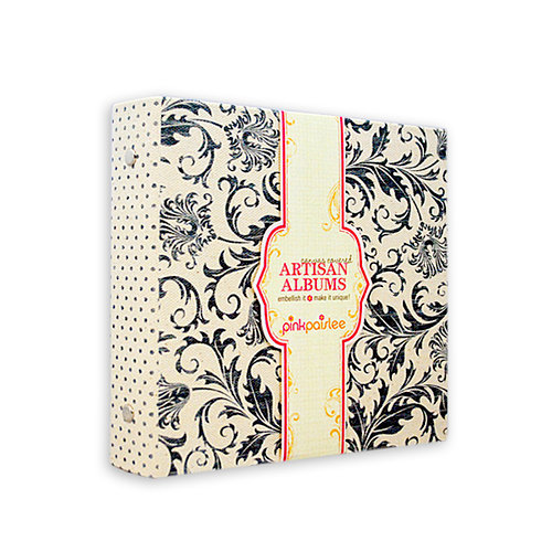 Pink Paislee - Artisan Collection - 6 x 6 Canvas Album - Blue