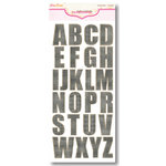 Pink Paislee - Expressions Collection - Chipboard Alphabet Stickers - Weathered Wood - Blackberry, CLEARANCE