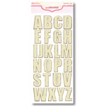 Pink Paislee - Expressions Collection - Chipboard Alphabet Stickers - Weathered Wood - Cotton