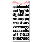 Pink Paislee - Expressions Collection - Cardstock Alphabet Stickers - Ambrose - Licorice, CLEARANCE