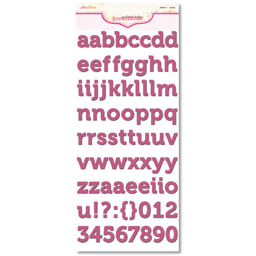 Pink Paislee - Expressions Collection - Cardstock Alphabet Stickers - Ambrose - Bayberry