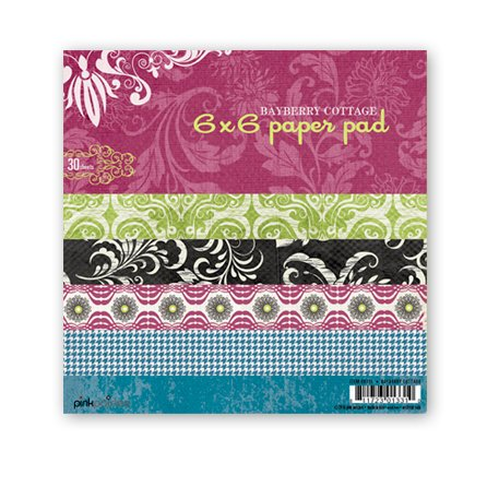 Pink Paislee - Bayberry Cottage Collection - 6 x 6 Paper Pad