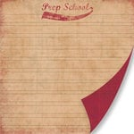 Pink Paislee - Old School Collection - 12 x 12 Double Sided Paper - Prep School