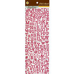 Pink Paislee - Old School Collection - Glittered Cardstock Stickers - Alphabet