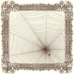 Pink Paislee - Hocus Pocus Collection - 12 x 12 Die Cut Paper - Spiders Lair