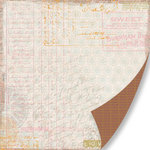 Pink Paislee - Sweetness Collection - 12 x 12 Double Sided Paper - Love Letters
