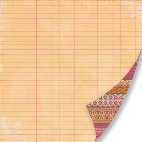 Pink Paislee - Sweetness Collection - 12 x 12 Double Sided Paper - Pretty Lace