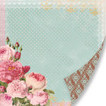 Pink Paislee - Sweetness Collection - 12 x 12 Double Sided Paper - Love Blooms