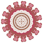 Pink Paislee - Sweetness Collection - 12 x 12 Die Cut Paper - Paper Heart