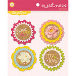 Pink Paislee - Sweetness Collection - Felt Embellishments - DooDads