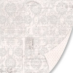 Pink Paislee - House of Three - Parisian Anthology Collection - 12 x 12 Double Sided Paper - Fancy Filigree, CLEARANCE