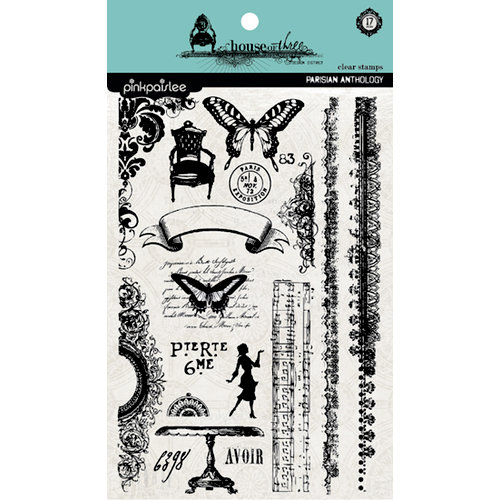 Pink Paislee - House of Three - Parisian Anthology Collection - Clear Acrylic Stamps