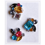 Pink Paislee - House of Three - Parisian Anthology Collection - Brooch Brads - Color