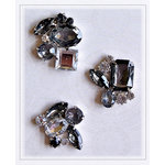 Pink Paislee - House of Three - Parisian Anthology Collection - Brooch Brads - Smoke