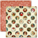 Pink Paislee - Father Christmas Collection - 12 x 12 Double Sided Paper - Around the World, BRAND NEW