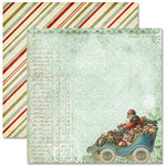 Pink Paislee - Father Christmas Collection - 12 x 12 Double Sided Paper - Special Delivery, BRAND NEW
