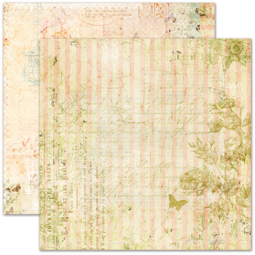 Pink Paislee - Butterfly Garden Collection - 12 x 12 Double Sided Paper - Nature Sanctuary