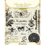 Pink Paislee - Butterfly Garden Collection - Clear Acrylic Stamp Set - Impressions, BRAND NEW