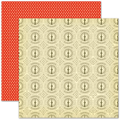 Pink Paislee - Hometown Summer Collection - 12 x 12 Double Sided Paper - Heat Wave