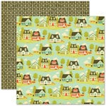 Pink Paislee - Hometown Summer Collection - 12 x 12 Double Sided Paper - Sunnyside Lane