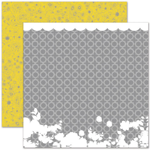 Pink Paislee - House of Three - Soiree Collection - 12 x 12 Double Sided Paper - Trellis