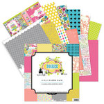 Pink Paislee - House of Three - Soiree Collection - 12 x 12 Paper Pack