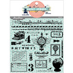 Pink Paislee - House of Three - Daily Junque Collection - Clear Acrylic Stamp Set