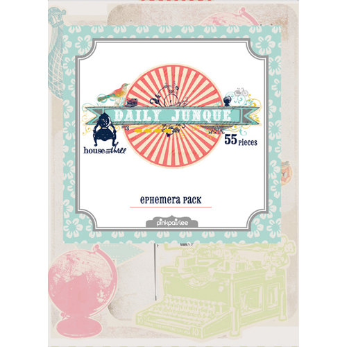 Pink Paislee - House of Three - Daily Junque Collection - Die Cut Pieces - Ephemera Pack, CLEARANCE