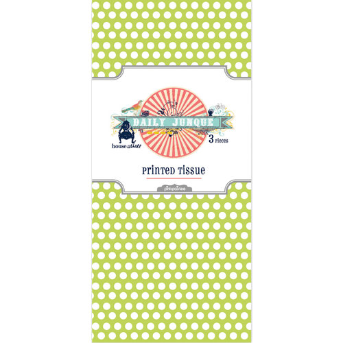 Pink Paislee - House of Three - Daily Junque Collection - Printed Sheets - Tissue Paper