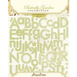 Pink Paislee - Butterfly Garden Collection - Cardstock Stickers - Expressions Alphabet