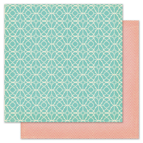 Pink Paislee - Nantucket Collection - 12 x 12 Double Sided Paper - Crab Cakes