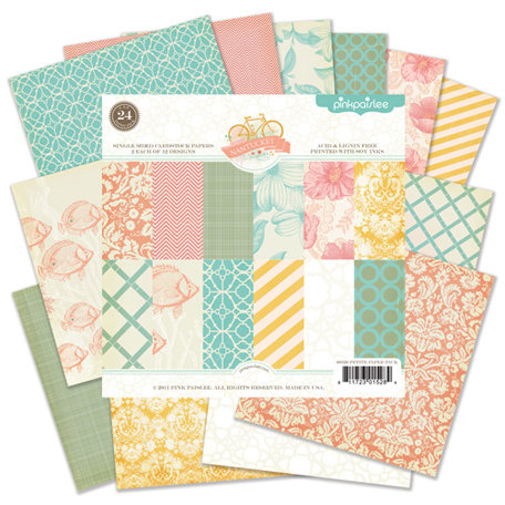 Pink Paislee - Nantucket Collection - 6 x 6 Petite Paper Pack