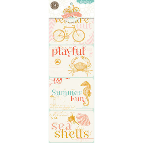 Pink Paislee - Nantucket Collection - Debossed Linen Trading Cards