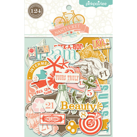 Pink Paislee - Nantucket Collection - Ephemera Pack
