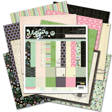 Pink Paislee - Vintage Vogue Collection - 12 x 12 Paper Pack