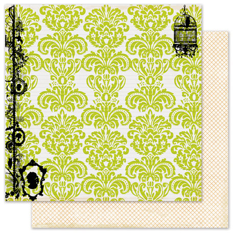 Pink Paislee - House of Three - Phantom Collection - Halloween - 12 x 12 Double Sided Paper with Glossy Accents - Apparition