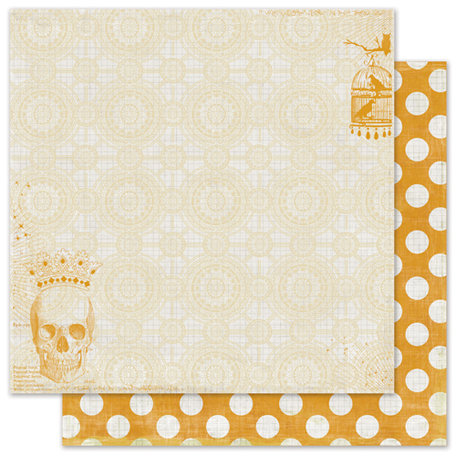 Pink Paislee - House of Three - Phantom Collection - Halloween - 12 x 12 Double Sided Paper with Glossy Accents - Obscure