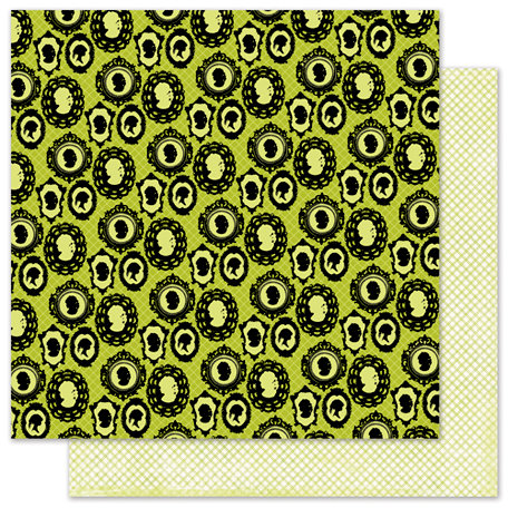 Pink Paislee - House of Three - Phantom Collection - Halloween - 12 x 12 Double Sided Paper with Glossy Accents - Enchantress