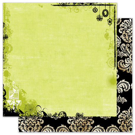 Pink Paislee - House of Three - Phantom Collection - Halloween - 12 x 12 Double Sided Paper with Glossy Accents - Mystic