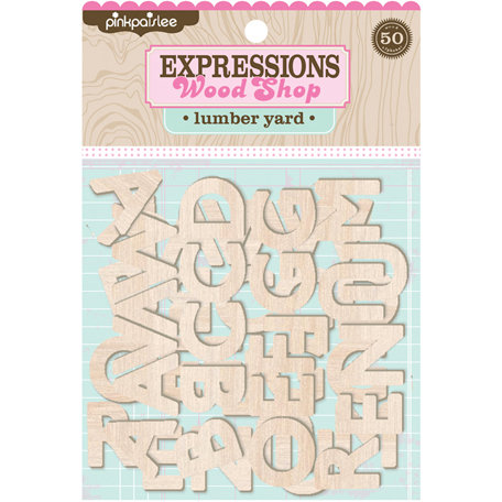 Pink Paislee - Wood Shop Collection - Wood Pieces - Alphabet - Lumberyard