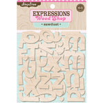 Pink Paislee - Wood Shop Collection - Wood Pieces - Alphabet - Sawdust