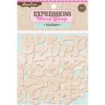 Pink Paislee - Wood Shop Collection - Wood Pieces - Alphabet - Timber