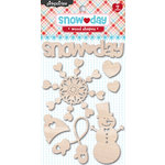 Pink Paislee - Snow Day Collection - Christmas - Wood Pieces - Shapes