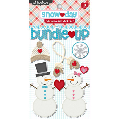Pink Paislee - Snow Day Collection - Christmas - 3 Dimensional Stickers
