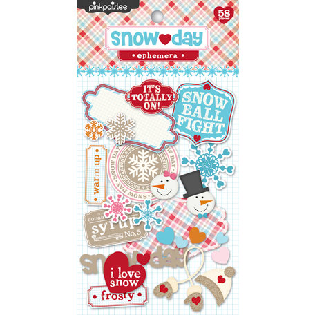 Pink Paislee - Snow Day Collection - Christmas - Ephemera Pack