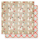 Pink Paislee - Snow Day Collection - Christmas - 12 x 12 Double Sided Paper - Frosty