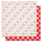 Pink Paislee - Snow Day Collection - Christmas - 12 x 12 Double Sided Paper - Snowball Fight